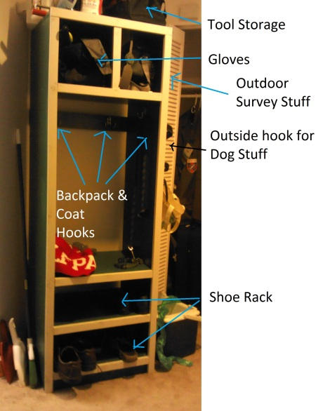 This multi-function cabinet was designed to keep me organized (haha, not happening). It is 6 feet tall, and nearly 3 feet wide.