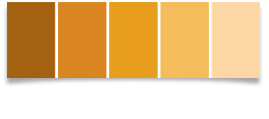 Make your own soil color book dirtartful Orange paint samples
