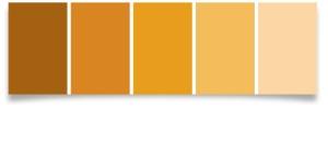 Orange swatches